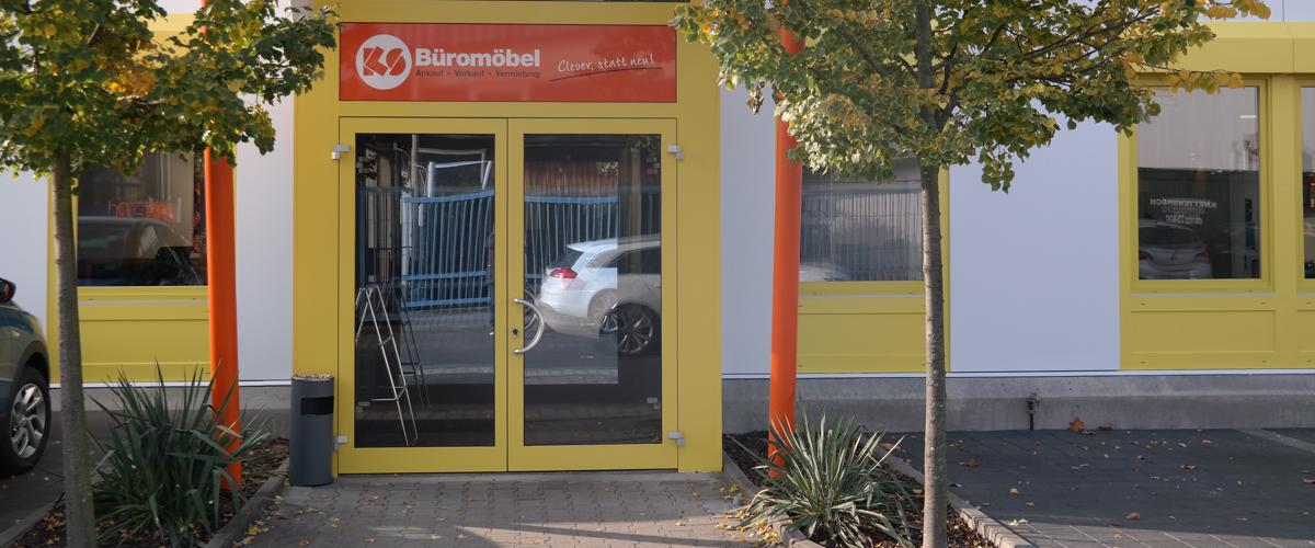 Sie finden unseren Lagerverkauf für gebrauchte Büromöbel in der Wiesenstr. 2 in 64347 Griesheim