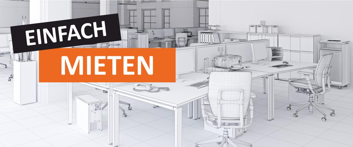 Die Miete von einzelnen Büromöbel oder ganzen Arbeitsplätzen macht Sie flexibel für die Zukunft